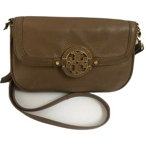 Tory Burch Handbag Crossbody Leather Camel Purse